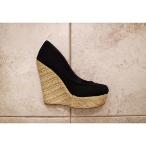 Madden Girl Black Wedge Shoe